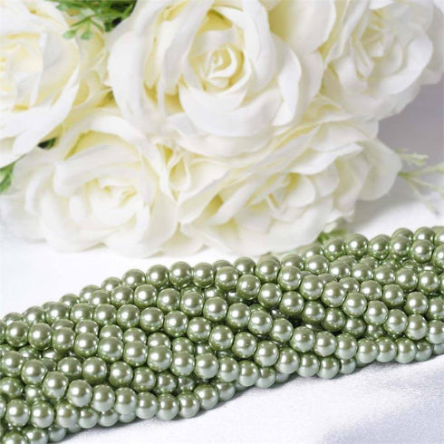 Endless Pearl Strand 8+ Yards Mother of Pearl - Tea Green