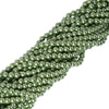 10 Pack of 8mm Large ea Green Faux Pearl Beads