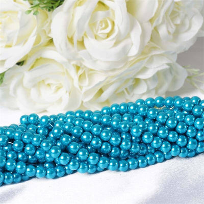 Endless Pearl Strand 8+ Yards Mother of Pearl - Turquoise