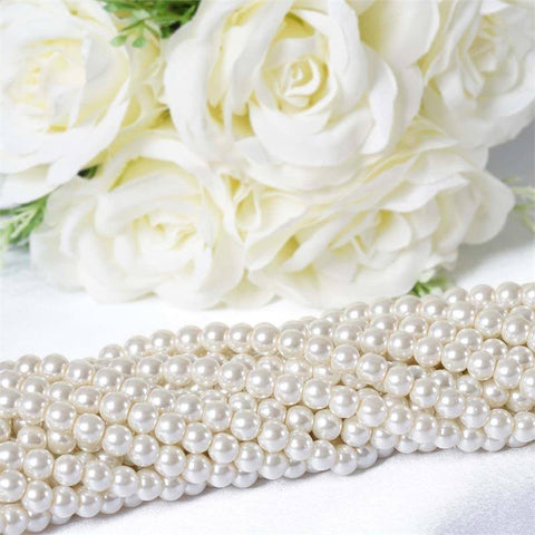 Endless Pearl Strand 8+ Yards Mother of Pearl Ivory