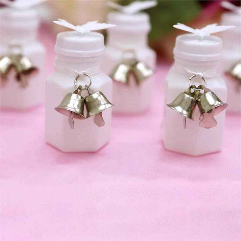 12 Sets Silver Tie-on Bells