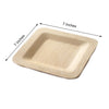 Bamboo Plates, Salad Dessert Plates, Eco Friendly Dinnerware