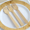 "25 Pack - 7"" Eco Friendly Chic Disposable Bamboo Forks, 100% Natural Bamboo Flatware"