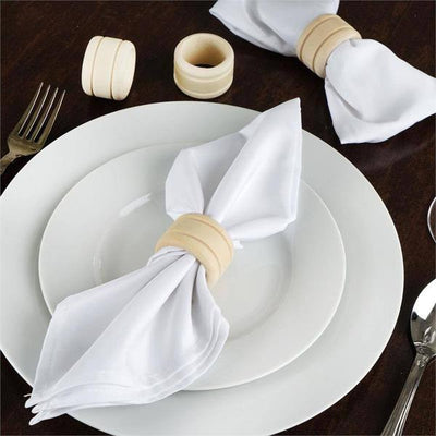 4 Pack Rustic Grace Disposable Wooden Napkin Rings