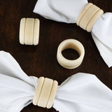 Rustic Grace Wooden Napkin Rings - 4/pk