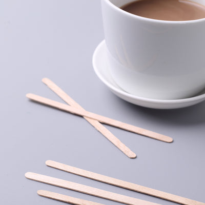 1000 pcs Natural Birchwood Coffee STIRRERS Disposable Party Wedding Dinner SALE