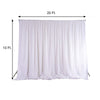 20ftx10ft Ivory Double Layer Polyester Chiffon Backdrop With Rod Pockets