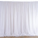 20ftx10ft White Double Layer Polyester Chiffon Backdrop With Rod Pockets