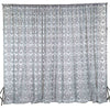 20ft X10ft Dual Layer Chiffon Taffeta Damask Flocking Photography Backdrop Decoration - Black/White