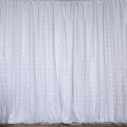 20ft x10ft White Grandiose Rosette Photography Backdrops