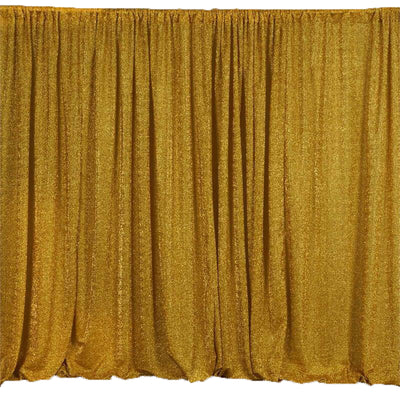 20ftx10ft Gold Metallic Shiny Spandex Glittering Backdrop