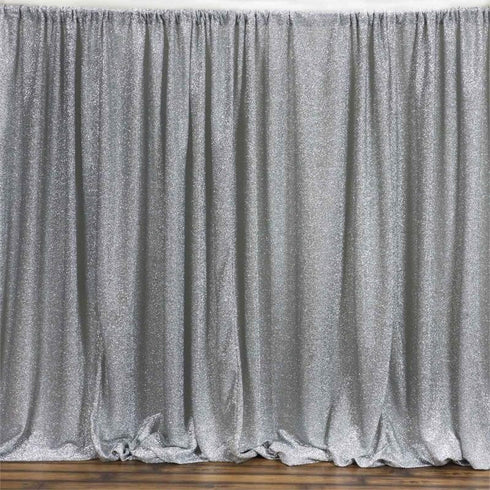 20ft x 10ft MY DREAMY Spandex Backdrops - Metallic Silver