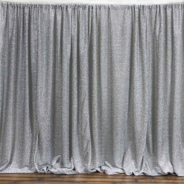 20ftx10ft Silver Metallic Spandex Backdrop Wedding Party
