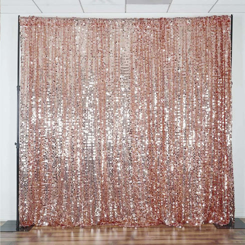 20FT x 10FT Blush Big Payette Sequin Backdrop Curtain