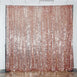 20FT x 10FT Blush | Rose Gold Big Payette Sequin Backdrop Curtain