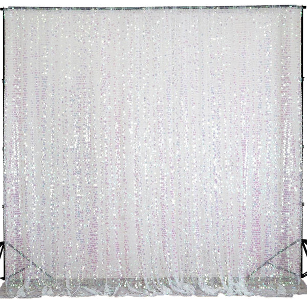 20FT X 10FT Rainbow Big Payette Sequin Backdrop Curtain