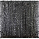 20FT x 10FT Black Big Payette Sequin Backdrop Curtain