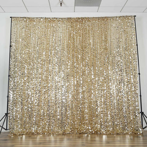 ... 20FT Champagne Big Payette Sequin Curtain Panel Backdrop Wedding Party  Photography Background   1 PCS ...
