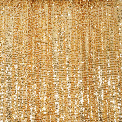 20FT x 10FT Gold Big Payette Sequin Backdrop Curtain