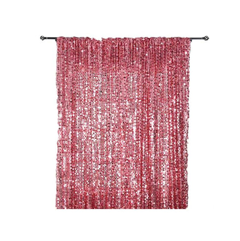20FT x 10FT Pink Big Payette Sequin Backdrop Curtain