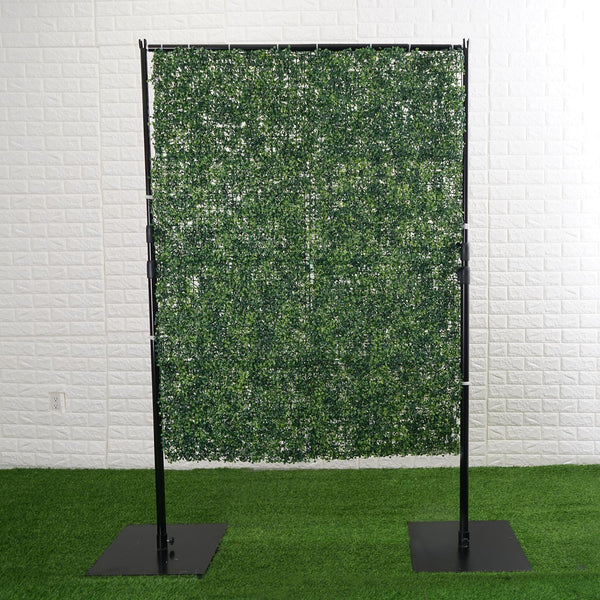 4FT x 9FT | Portable Isolation Wall with Artificial Grass Wall Panels, Floor Standing Sneeze Guard