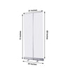Clear Portable Isolation Wall Kit, Floor Standing Roll Up Retractable Sneeze Guard Table Divider