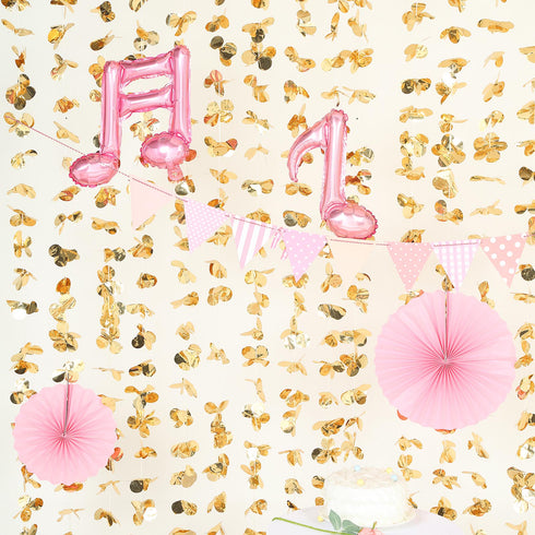 6FT Gold Dazzling Metallic Foil Flower Backdrop