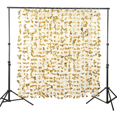 6FT Gold Dazzling Metallic Foil Flower Backdrop Decor