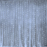 600 Sequential White LED Lights BIG Photography Organza Curtain Backdrop - 20FT x 10FT