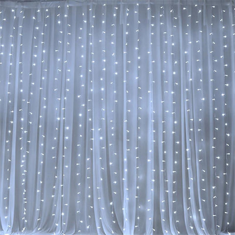 600 LED Lights BIG Wedding Party Photography Organza Curtain Backdrop    White   20FT X 10FT ...