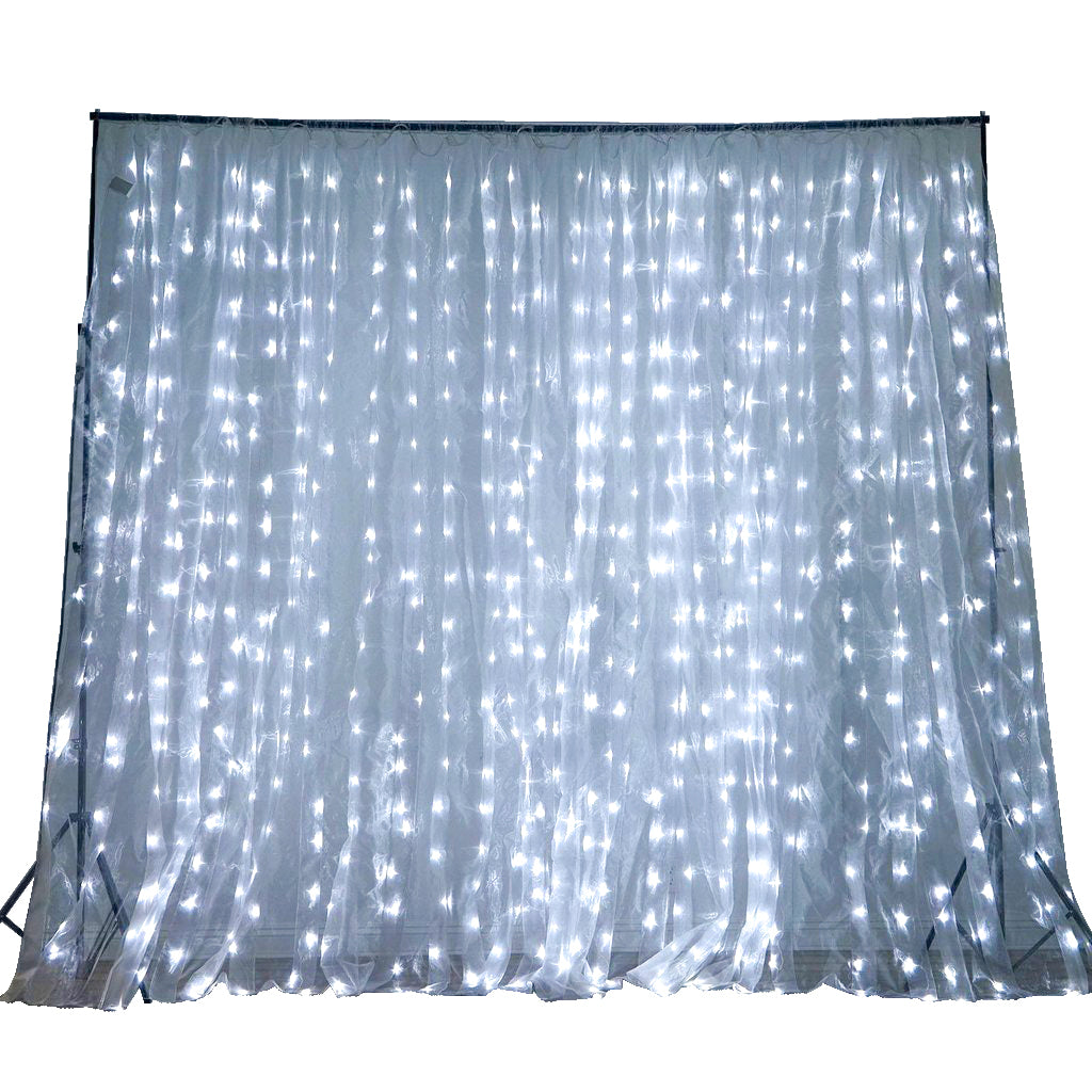 600 Sequential White LED Lights BIG Photography Organza Curtain Backdrop