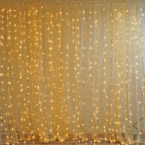 20FT x 10FT 600 Sequential Gold LED Lights BIG Photography Organza Curtain Backdrop