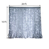 20Ft x 10Ft Sheer Silver Curtain Backdrop With 600 Cool White LED Lights