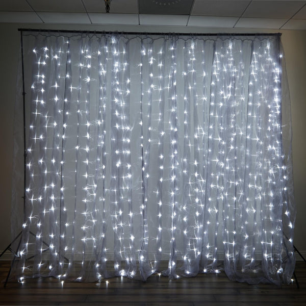 20ft X 10ft 600 Sequential Silver Led Lights Big Wedding