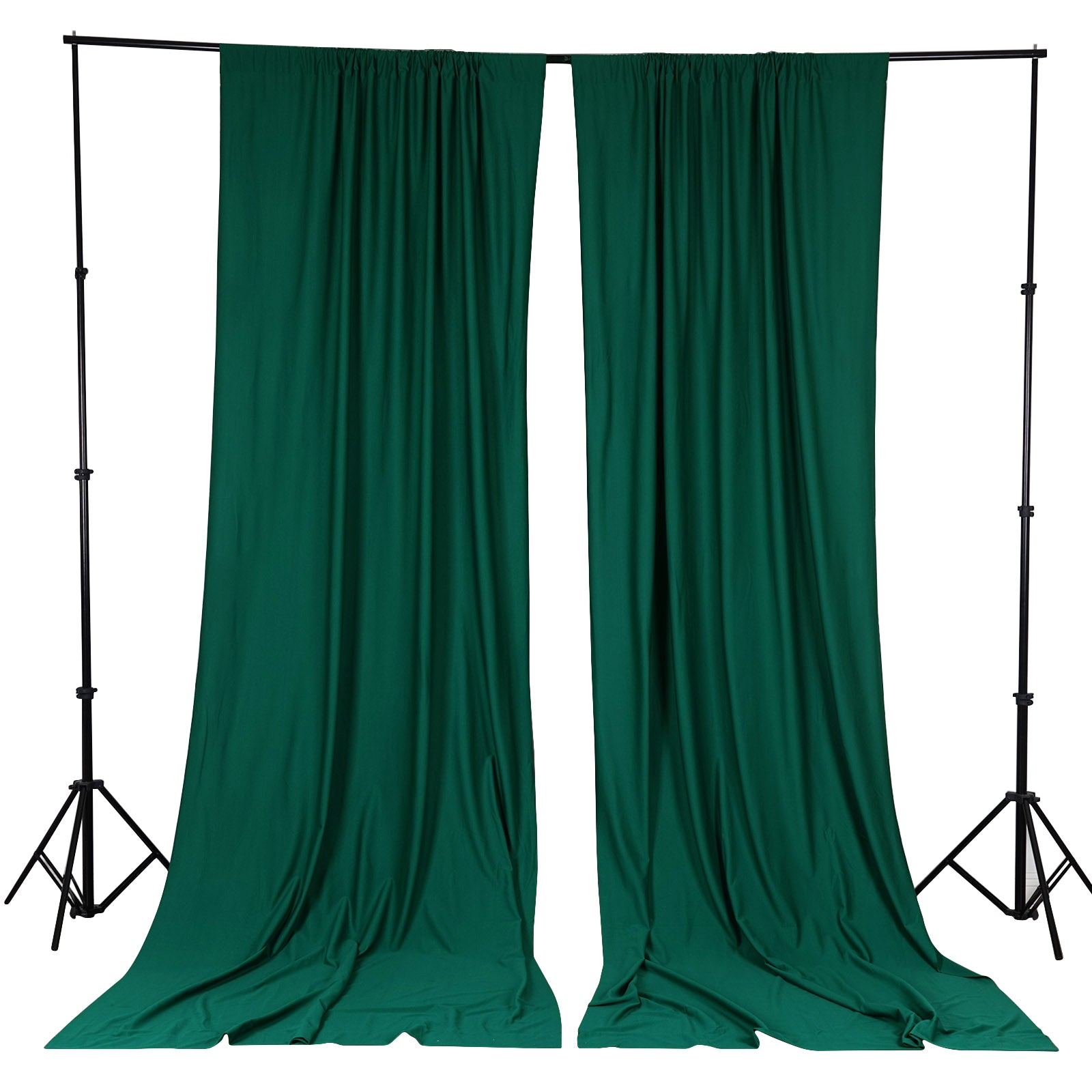 Green stage curtains - 10ft Hunter Green Polyester Fire Retardant Curtain Stage Backdrop Partition Premium Collection