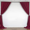 Pack of 2 | 5FTx10FT Burgundy Fire Retardant Polyester Curtain Panel Backdrops With Rod Pockets