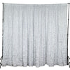 20ftx10ft White Satin Ruffle Backdrop