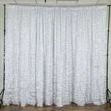 20ftx10ft White Satin Ruffle Backdrop Wedding Party Photography Event Decoration
