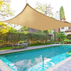 16FT x 20FT Tan Rectangle Sun Shade Sail, UV Block Canopy For Outdoor Patio Backyard