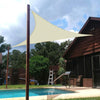 10FT x 10FT x 14FT Ivory Triangle Sun Shade Sail, UV Block Canopy For Outdoor Patio Backyard