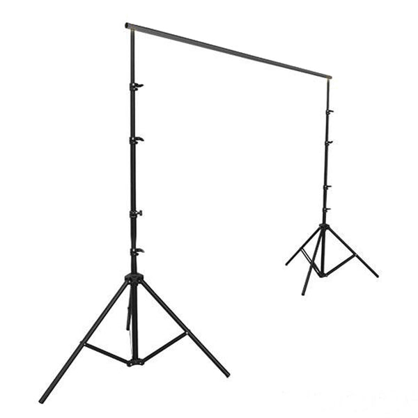 12FT x 12FT - DIY Adjustable Metal Heavy Duty Backdrop Stand - Photography Backdrop Stand Kit - Portable Backdrop Stand
