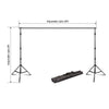 8FT x 10FT - Adjustable Backdrop Stand - Portable Photography Backdrop Stand with 2 Free Backdrops - Photo Video Studio Backdrop Stand Kit