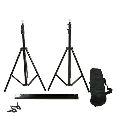 10FT  Adjustable Crossbar Kit Wedding Photography Muslin Backdrop Stand + FREE Backdrops