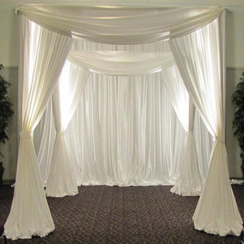 4 Post Height Adjustable Canopy Chuppah Mandap Wedding Photo Exhibition Booth - Hardware Kit Only