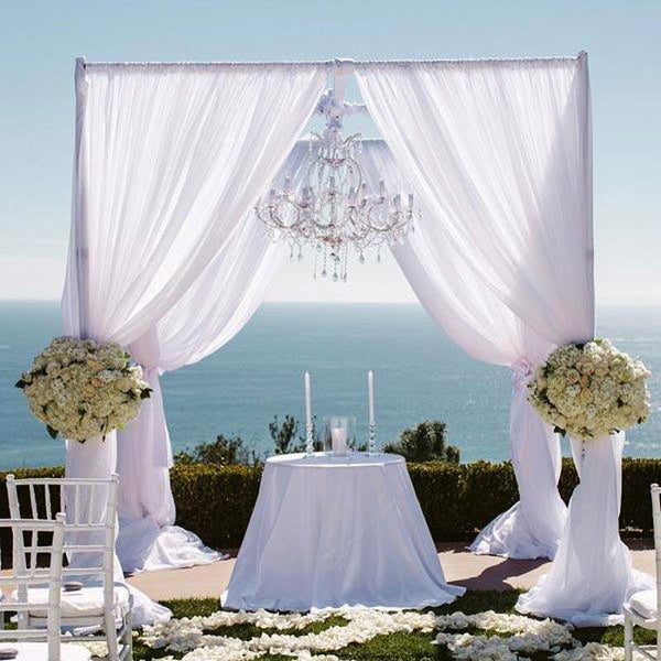 60 Amazing Wedding Altar Ideas Structures For Your: 4 Post Height Adjustable Canopy Chuppah Mandap Wedding