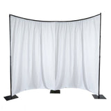 11 Ft. Heavy Duty Metal Curved Curtain Backdrop Stand Wedding Stage Decoration - 3 Piece Set
