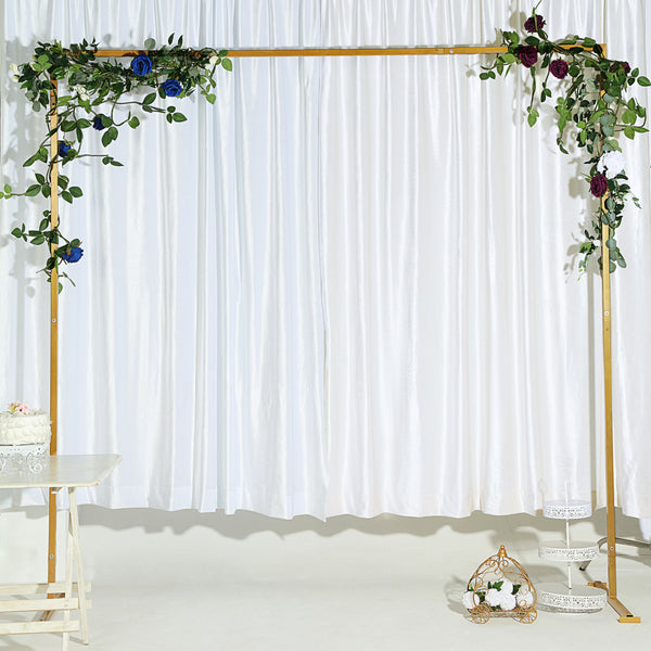 8Ft x 8Ft Gold Metal Wedding Arch, Photo Booth, Ceremony Backdrop Stand