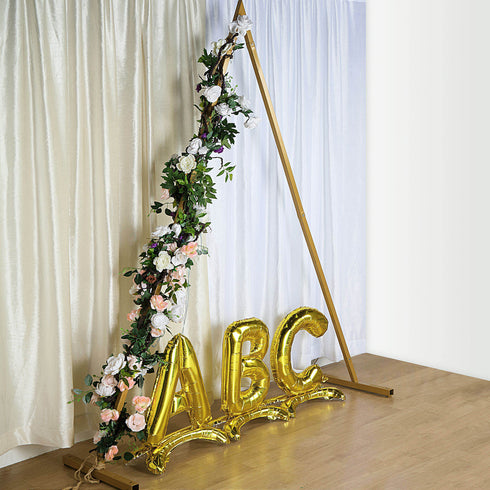 Triangle Wedding Arch, Gold Metal Backdrop Stand,  Photo booth Backdrop Stand