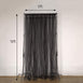 5FTx10FT | Double Sided Sheer Tulle Backdrop Curtain Panels with Satin Rod Pockets - Black