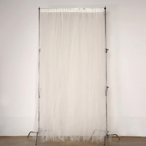 5FTx10FT | Sheer Curtains | Double Sided Tulle Backdrop Curtain Panels | Ivory Curtains